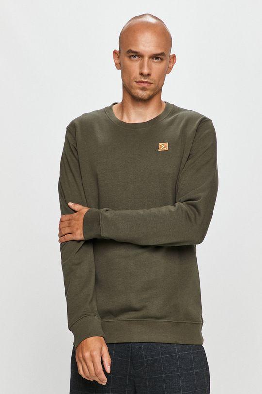ciemny zielony Clean Cut Copenhagen - Bluza bawełniana Męski