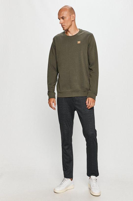 Clean Cut Copenhagen - Bluza bawełniana ciemny zielony