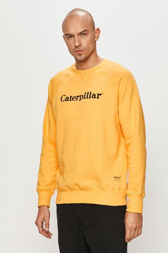 žltá Caterpillar - Bavlnená mikina Pánsky