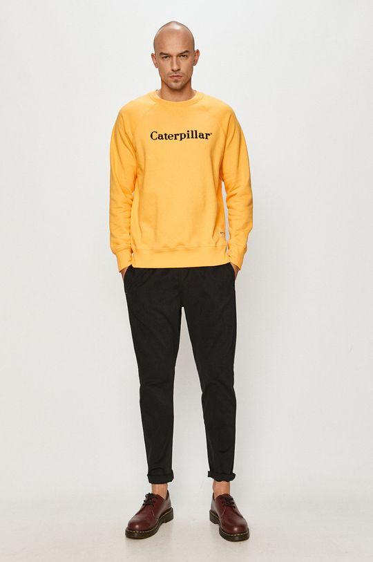 Caterpillar - Bavlnená mikina žltá