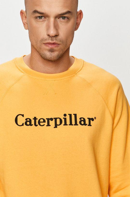 žltá Caterpillar - Bavlnená mikina