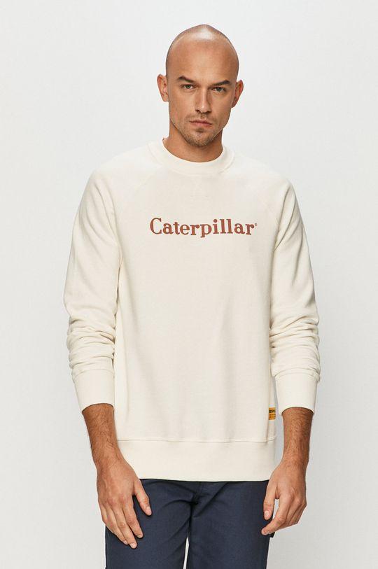 biały Caterpillar - Bluza bawełniana Męski
