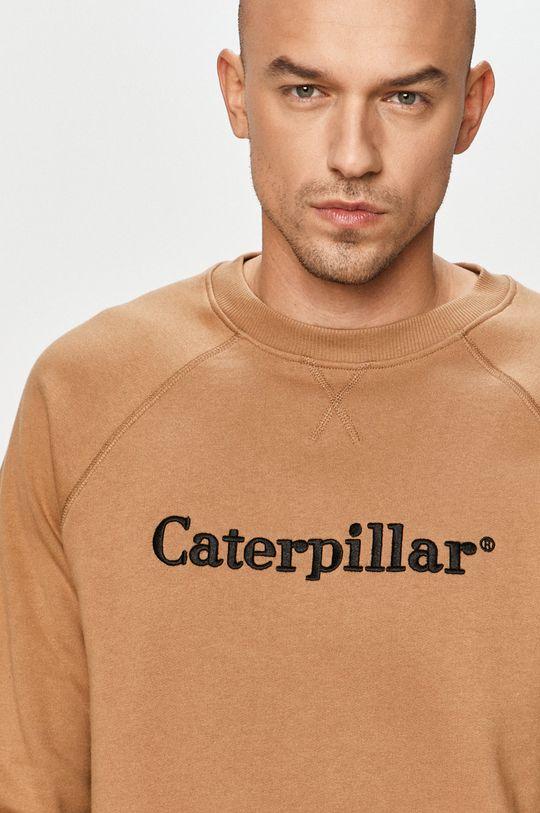 béžová Caterpillar - Bavlněná mikina