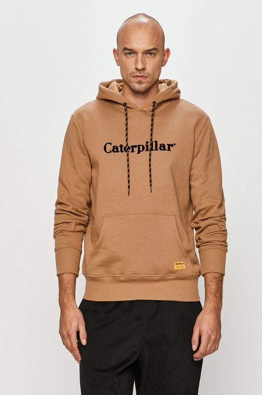 béžová Caterpillar - Bavlněná mikina Pánský