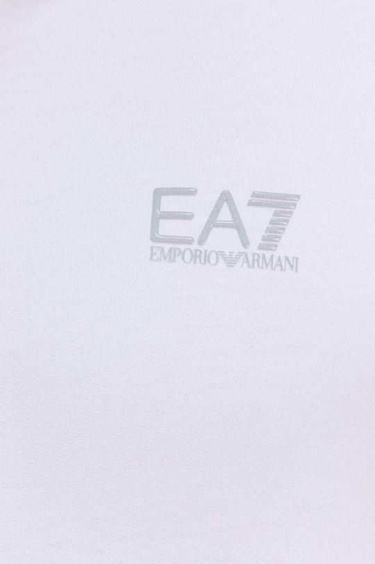 bílá EA7 Emporio Armani - Bavlněná mikina