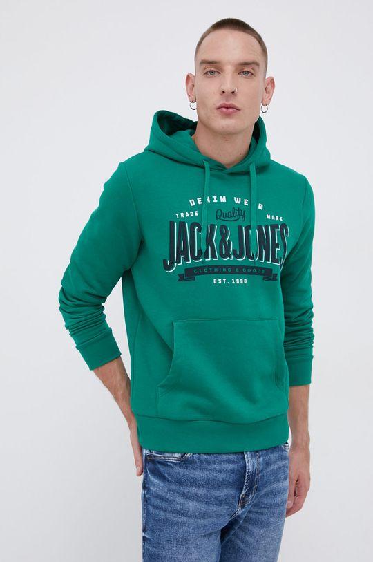 zielony Jack & Jones - Bluza Męski