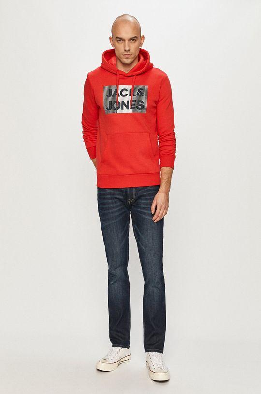 Jack & Jones - Bluza bawełniana czerwony