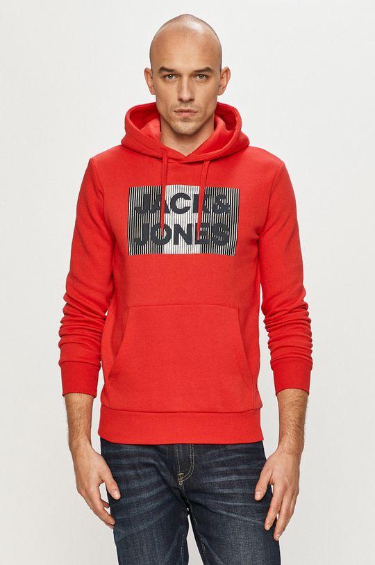 czerwony Jack & Jones - Bluza bawełniana