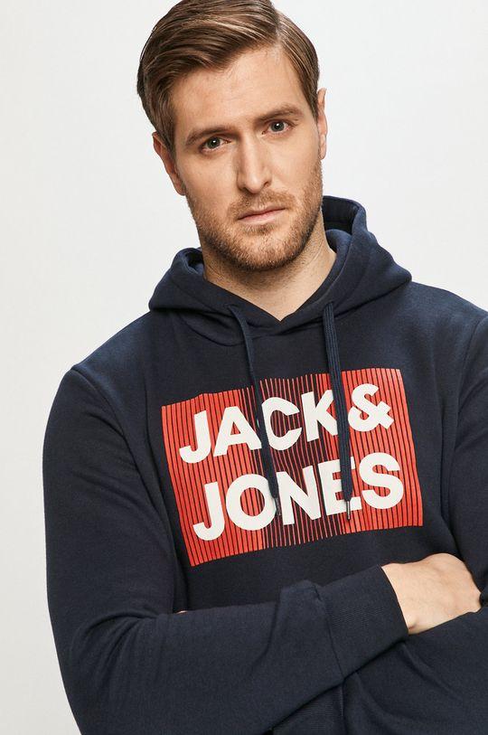 granatowy Jack & Jones - Bluza bawełniana Męski