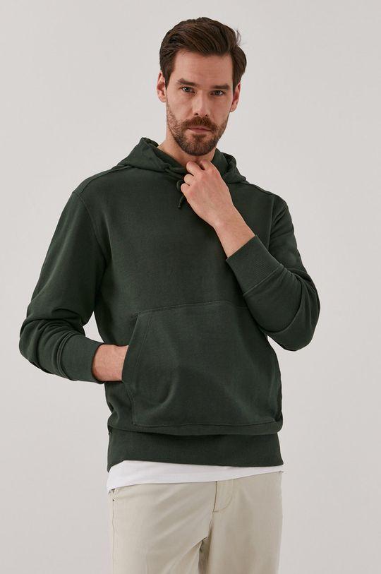 Selected - Bavlněná mikina ocelová zelená