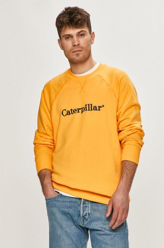 žlutá Caterpillar - Mikina Pánský