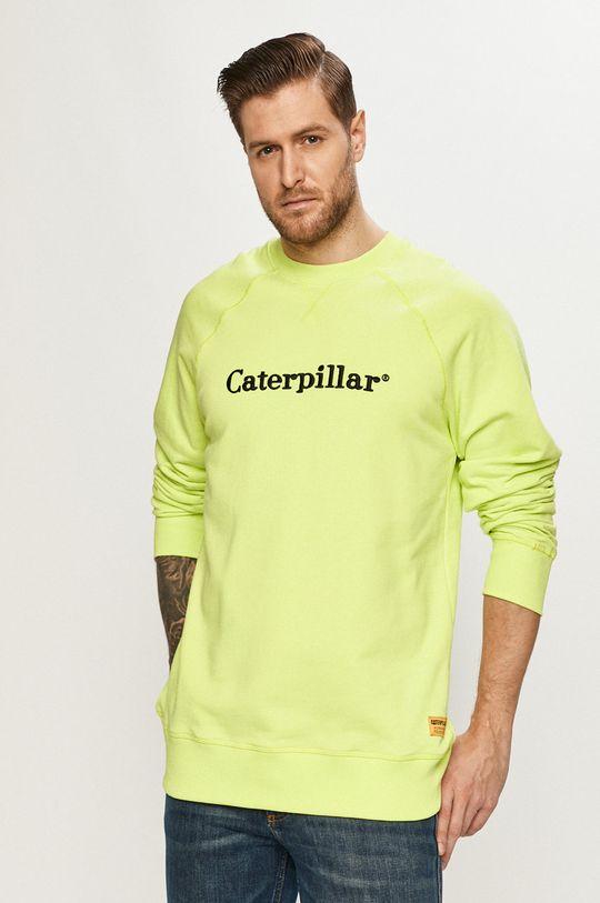 żółto - zielony Caterpillar - Bluza Męski