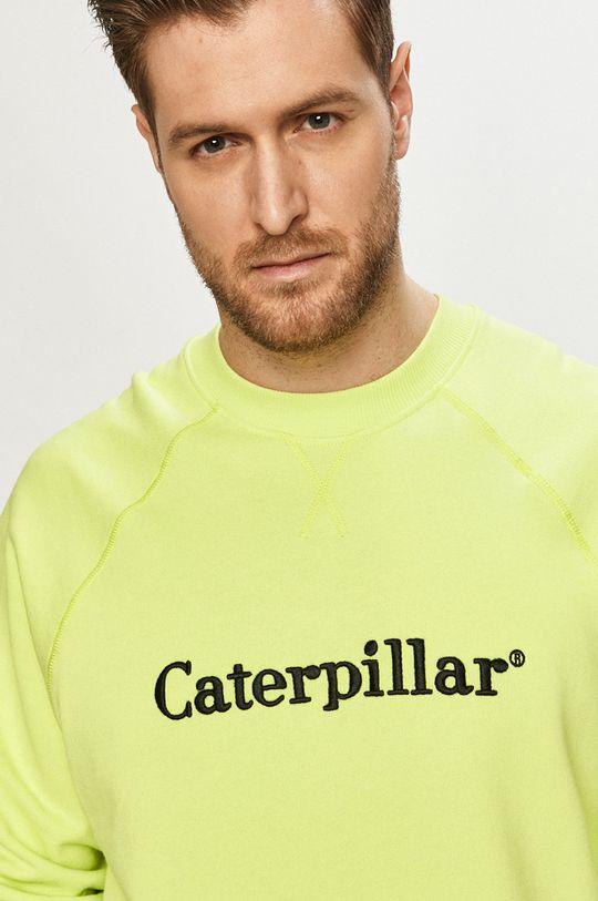 żółto - zielony Caterpillar - Bluza