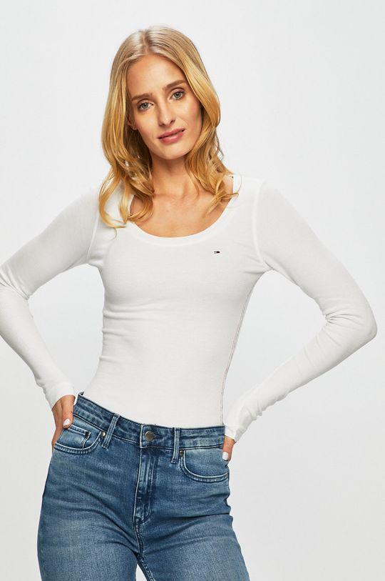 biały Tommy Jeans - Longsleeve Damski