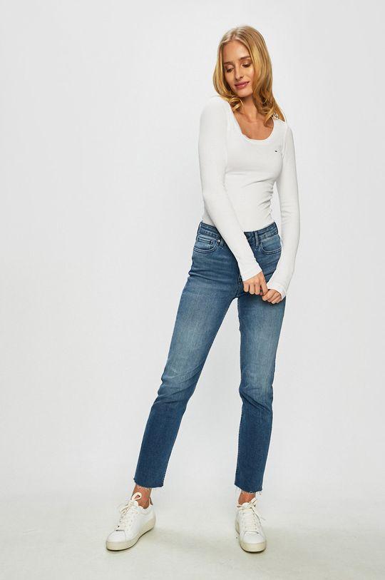Tommy Jeans - Longsleeve biały