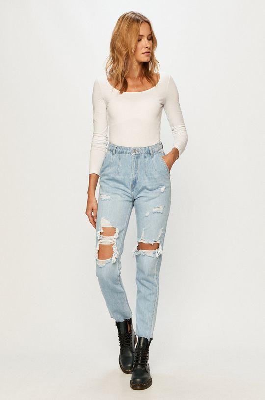 Vero Moda - Tričko s dlouhým rukávem bílá