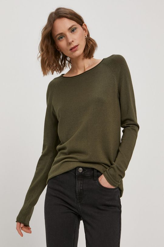 oliwkowy Vero Moda - Sweter Damski