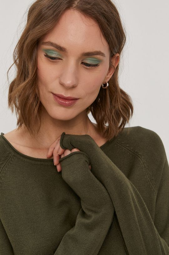 oliwkowy Vero Moda - Sweter