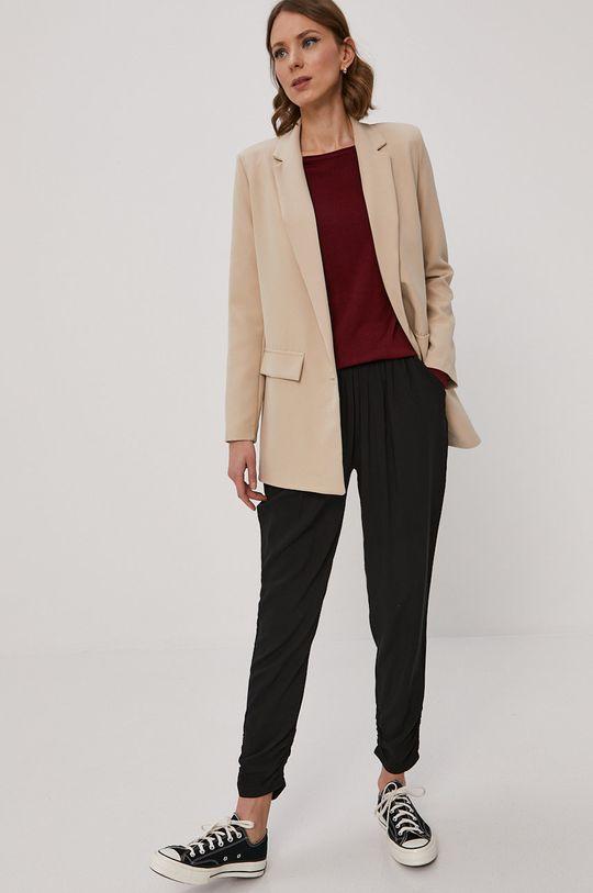 Vero Moda - Sweter mahoniowy