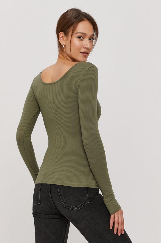 Pieces - Tričko s dlouhým rukávem  100% Bavlna