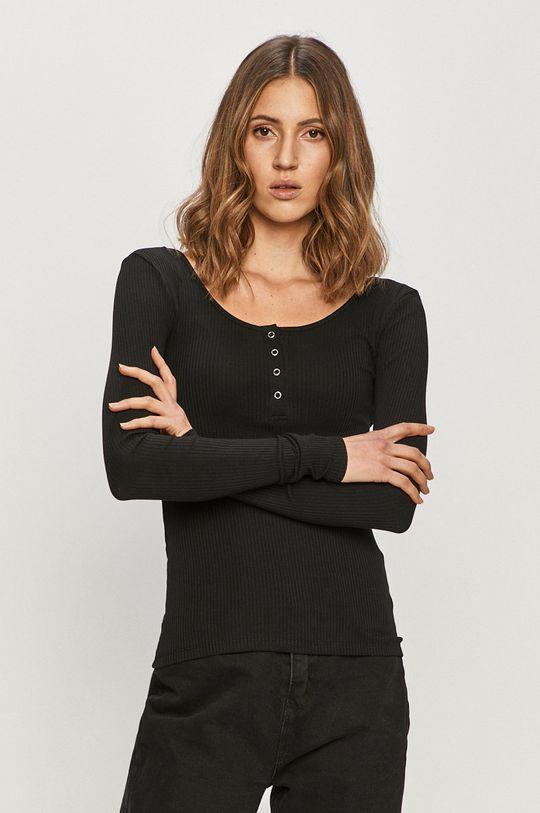 čierna Pieces - Tričko s dlhým rukávom Dámsky