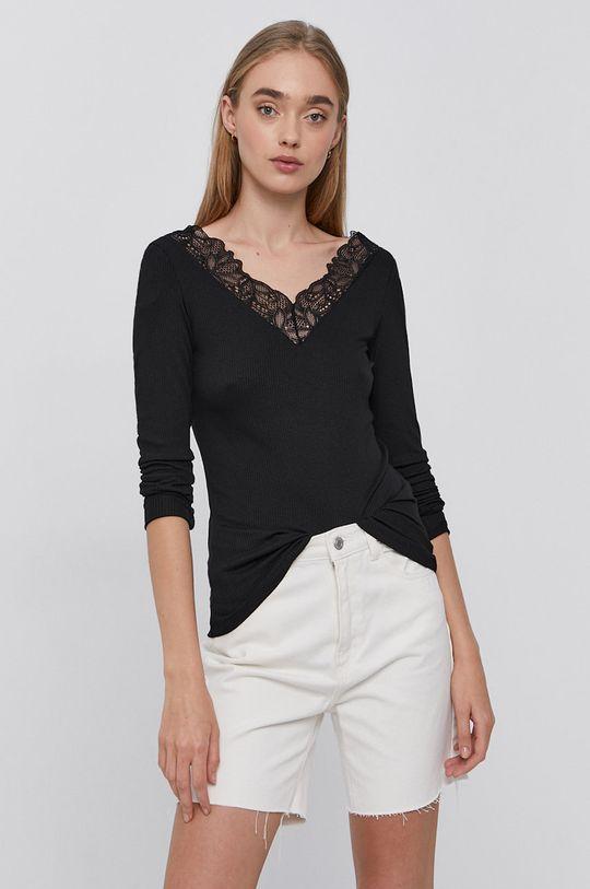 Y.A.S - Tričko s dlhým rukávom čierna
