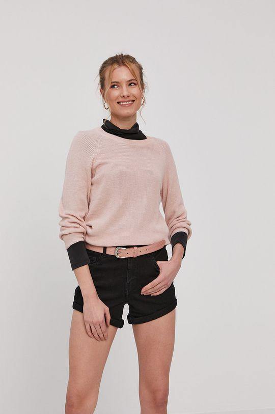 Vero Moda - Svetr pastelově růžová