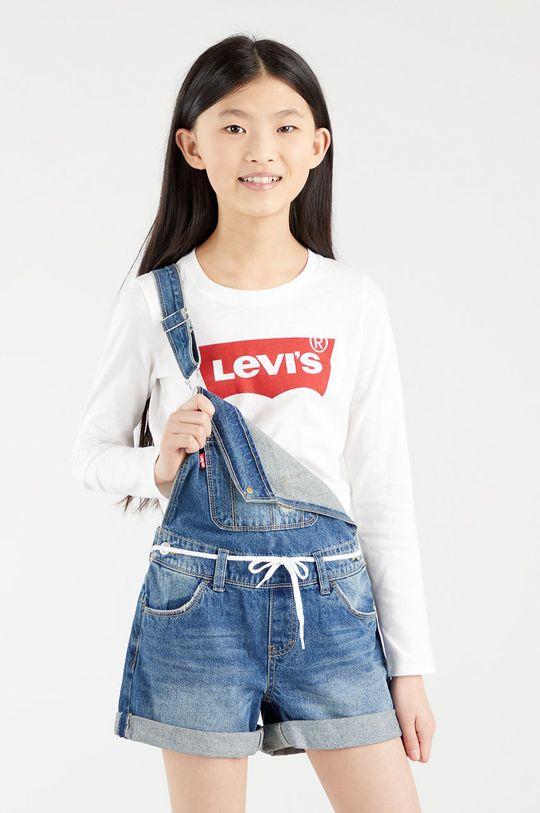 bílá Levi's - Dětské tričko s dlouhým rukávem Dívčí