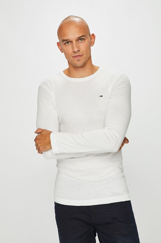 biały Tommy Jeans - Longsleeve Męski