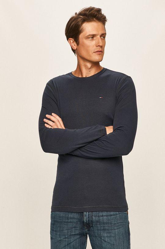 námořnická modř Tommy Jeans - Tričko s dlouhým rukávem Pánský