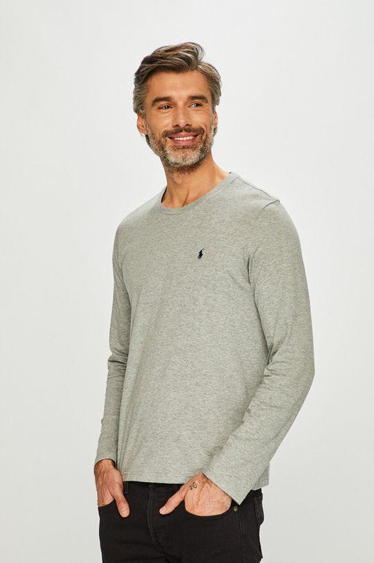 šedá Polo Ralph Lauren - Tričko s dlouhým rukávem Pánský