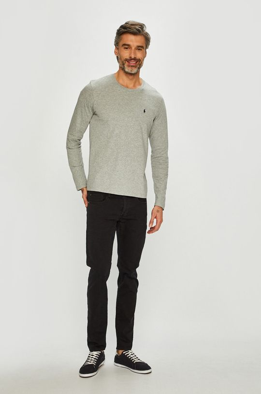 Polo Ralph Lauren - Tričko s dlouhým rukávem šedá