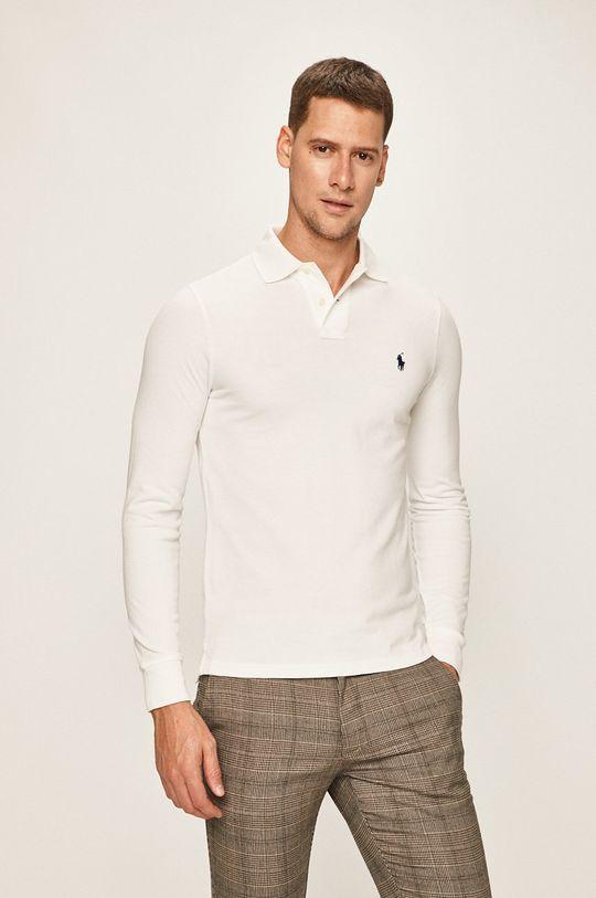 bílá Polo Ralph Lauren - Tričko s dlouhým rukávem Pánský