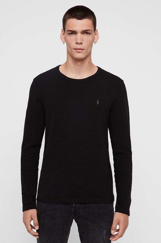 černá AllSaints - Tričko s dlouhým rukávem Muse LS Crew Pánský