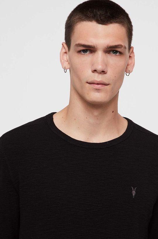 AllSaints - Tričko s dlouhým rukávem Muse LS Crew černá