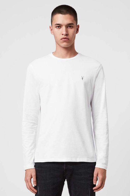 bílá AllSaints - Tričko s dlouhým rukávem Brace LS Tonic Crew Pánský