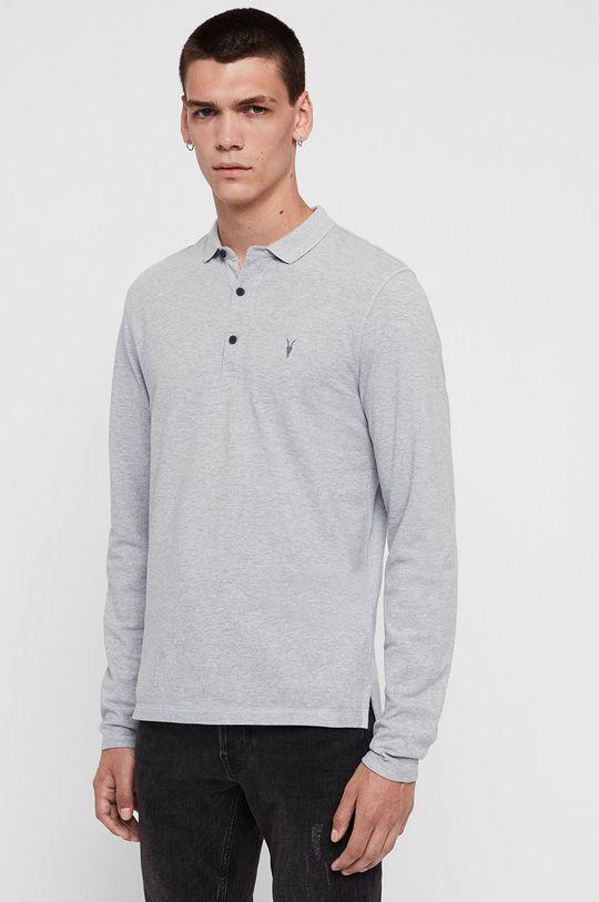 světle šedá AllSaints - Tričko s dlouhým rukávem Reform Polo