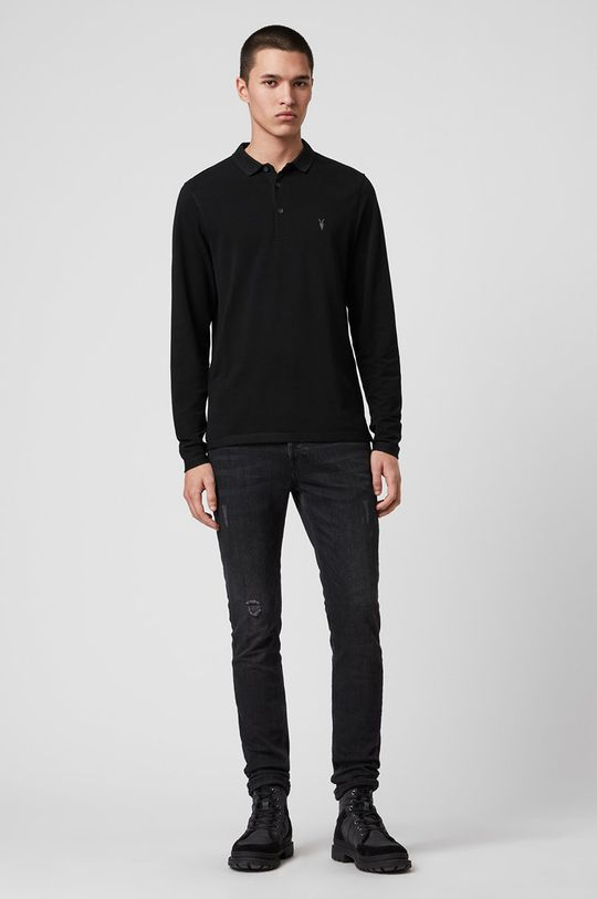 AllSaints - Tričko s dlouhým rukávem Reform Polo  100% Bavlna