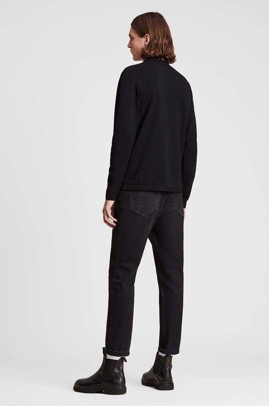černá AllSaints - Tričko s dlouhým rukávem Reform Polo