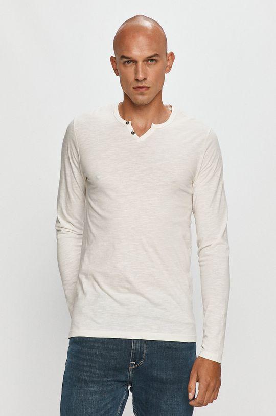 biela Jack & Jones - Tričko s dlhým rukávom Pánsky