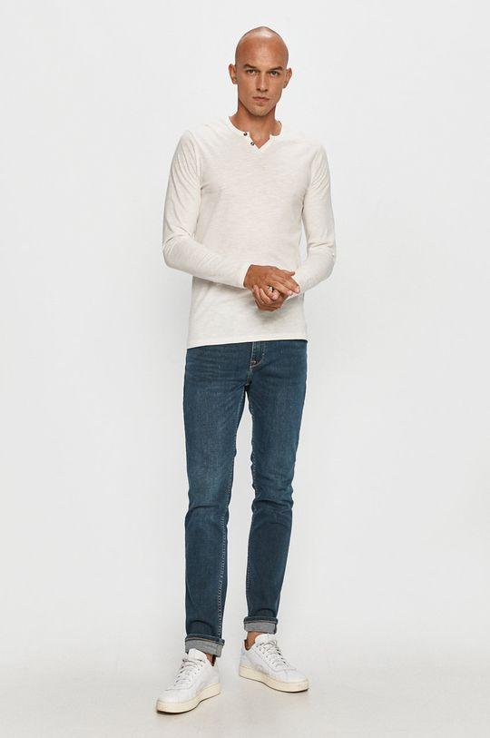 Jack & Jones - Tričko s dlhým rukávom biela