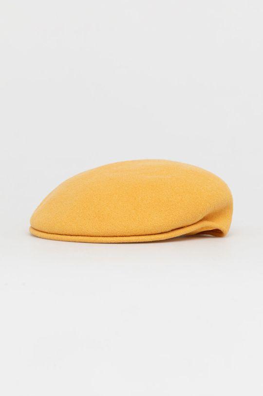 żółty Kangol - Kaszkiet Damski