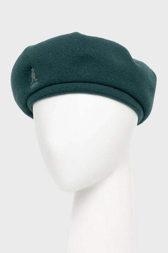 Kangol - Beret wełniany zielony