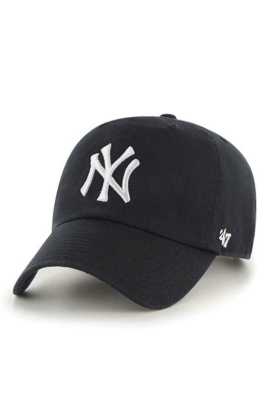 černá 47brand - Čepice New York Yankees Clean Up Pánský