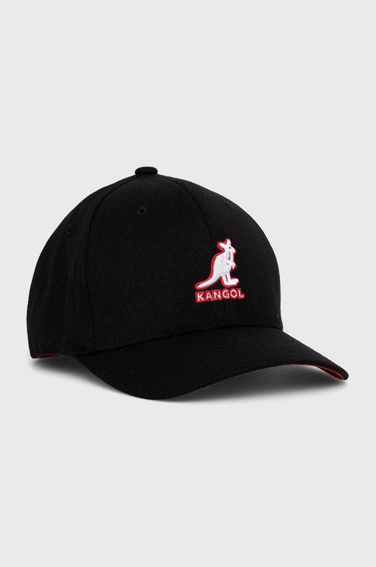 czarny Kangol - Czapka z domieszką wełny Męski