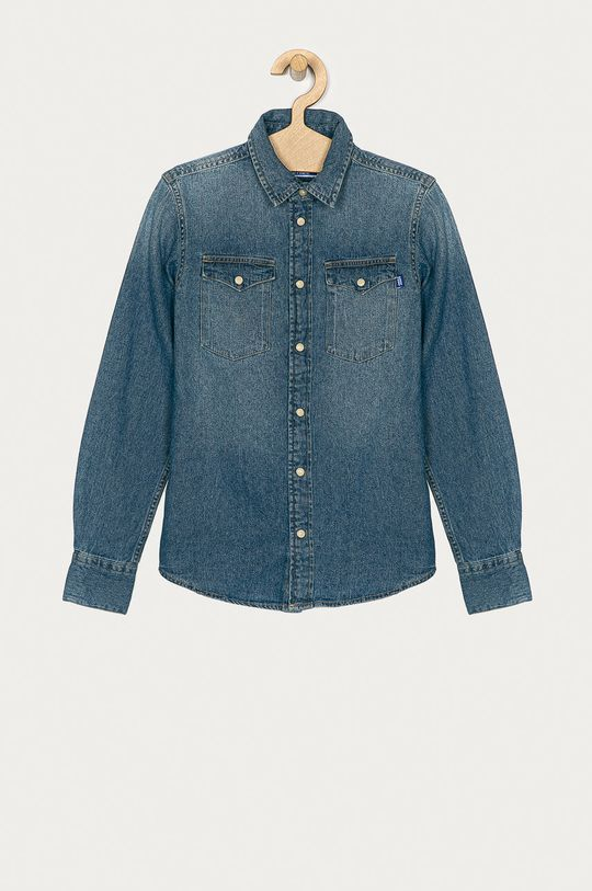 albastru Jack & Jones - Camasa de bumbac pentru copii 128-176 cm De băieți