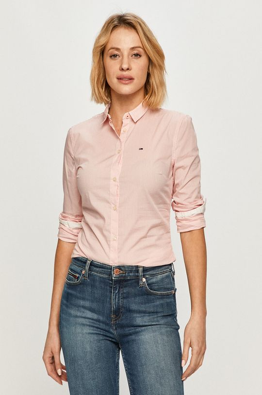 ružová Tommy Jeans - Košeľa Dámsky
