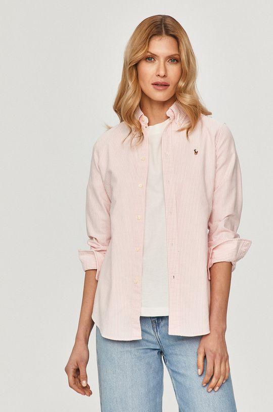 pastelová ružová Polo Ralph Lauren - Bavlnená košeľa Dámsky