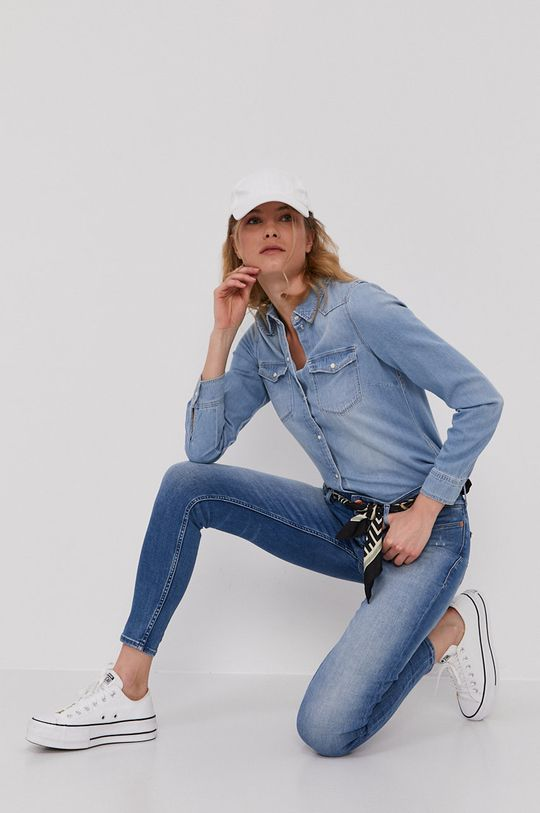 Vero Moda - Bavlněná košile  100% Organická bavlna