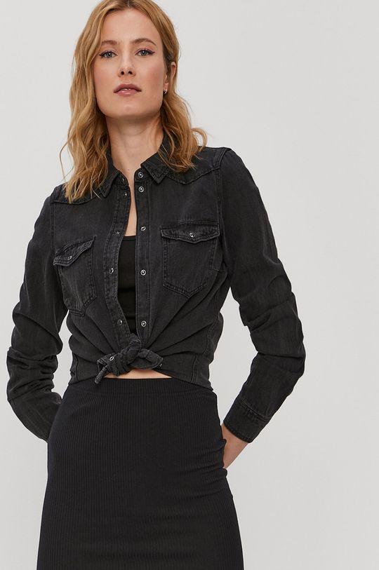 čierna Vero Moda - Bavlnená košeľa Dámsky